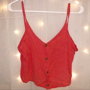 Tops - Salmon Button Up Tank